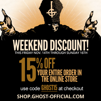 Ghost November weekend sale  2014