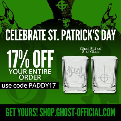 Ghost St Patricks Day Sale 2015