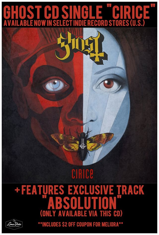 Ghost CD Single 'Cirice' Available At Indie Record Stores