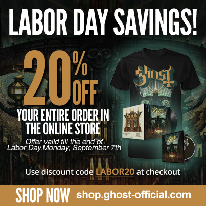 ghost labor day sale 2015