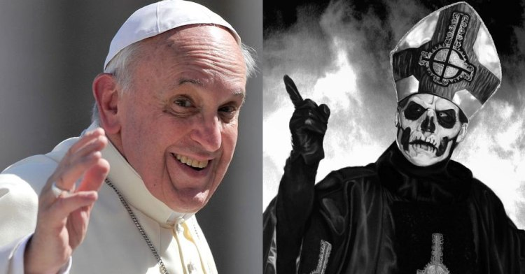 Metalinjection.net: GHOST's Papa Emeritus III Lost A Dick-Measuring Contest To Pope Francis