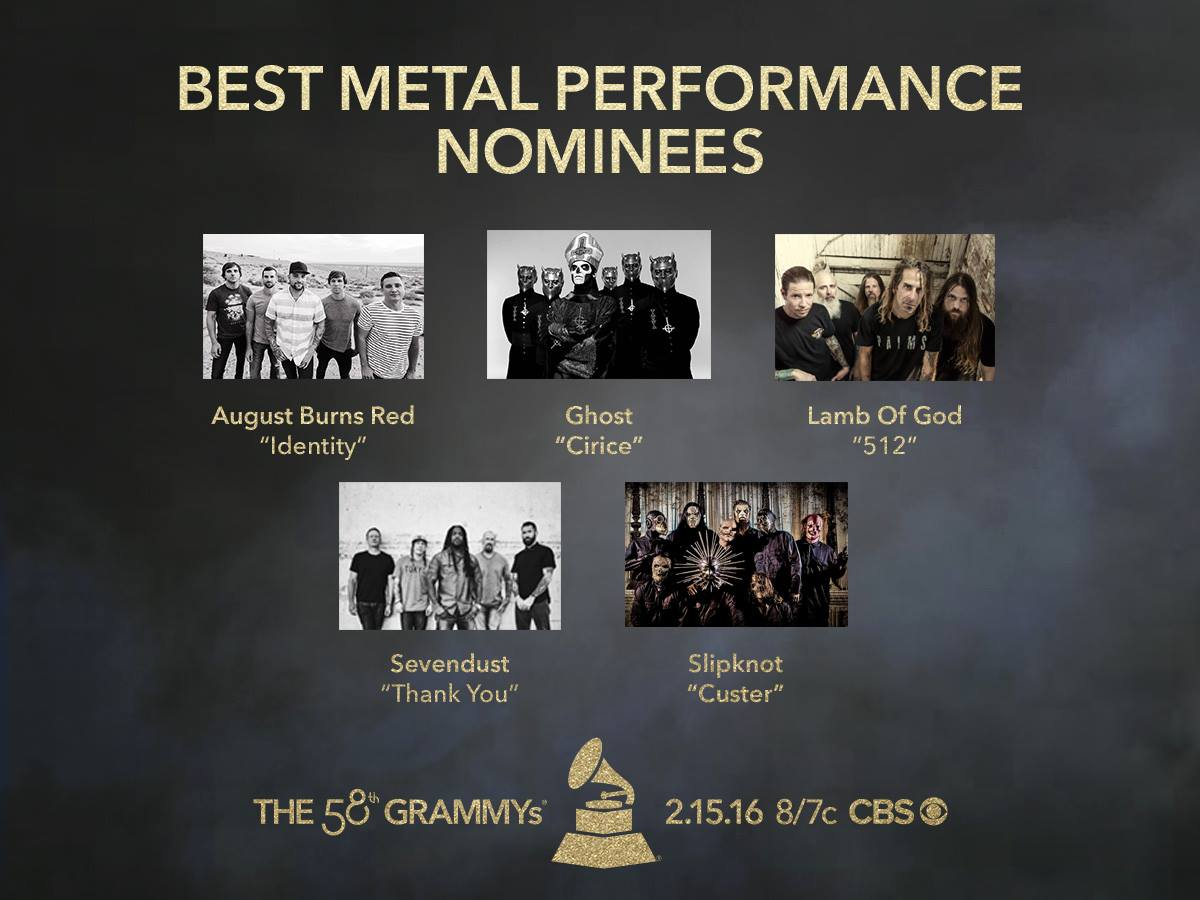 Grammy's Best Metal Performance Infographic