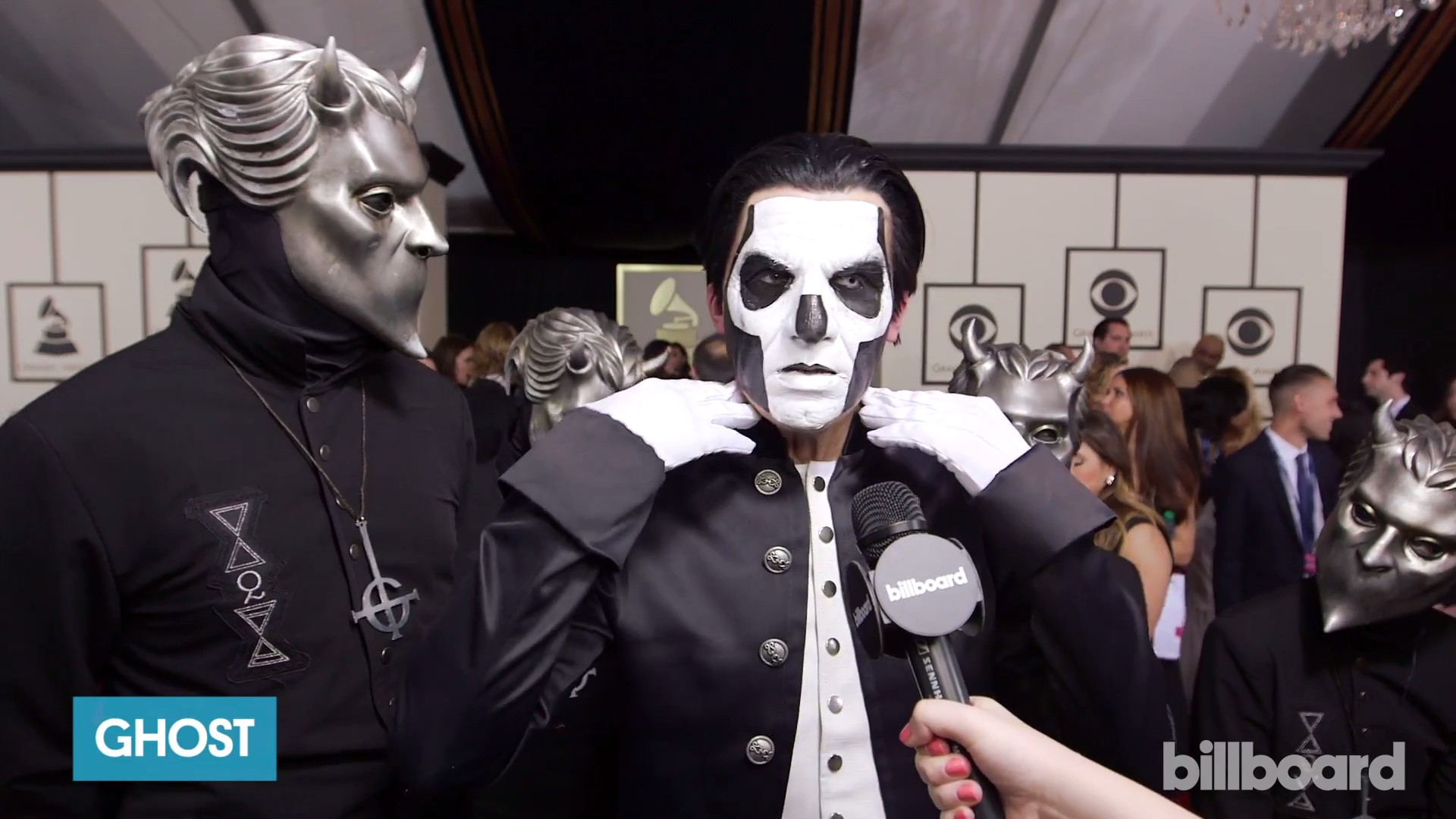 Billboard Interviews Ghost On The Red Carpet At The Grammys