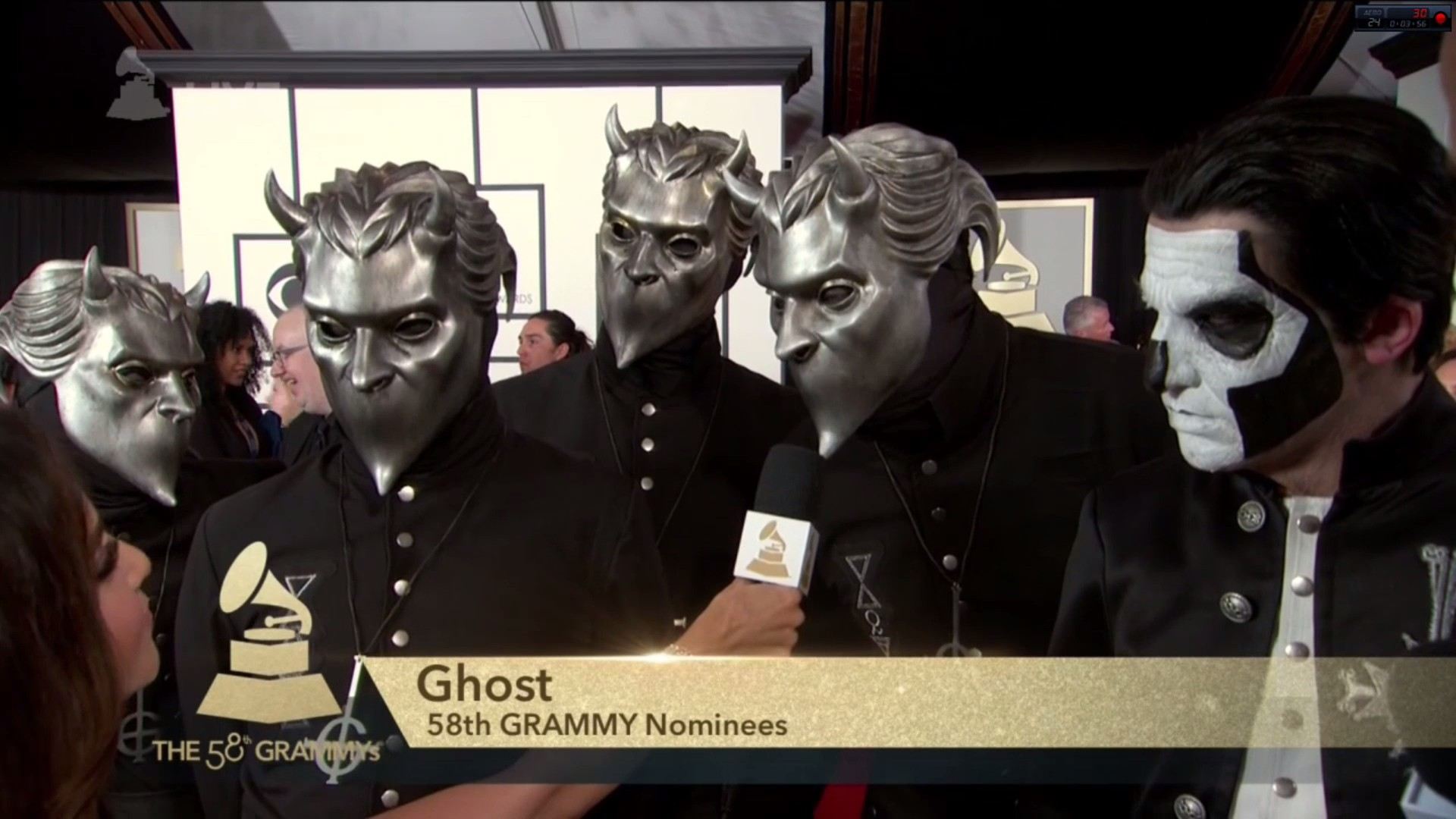 Ghost Red Carpet Appearance At The Grammys