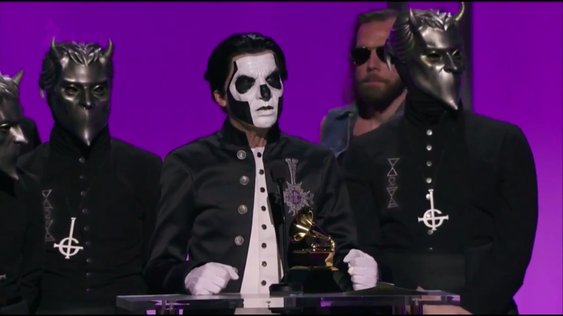 World Religion News Writes About Ghost Winning A Grammy And Their Religious Influence. Also Mentions CoG As A Source.