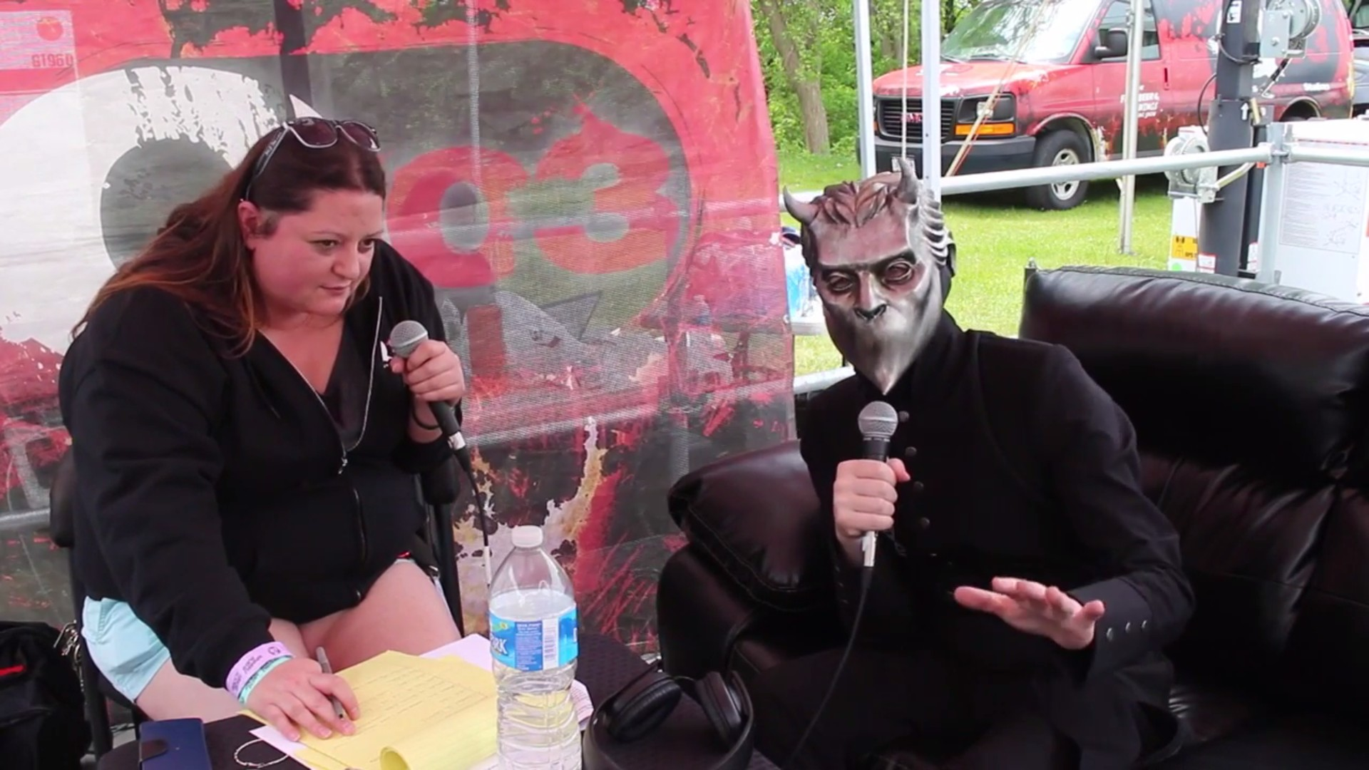 Q103 Albany Rock Station Interview Ghost