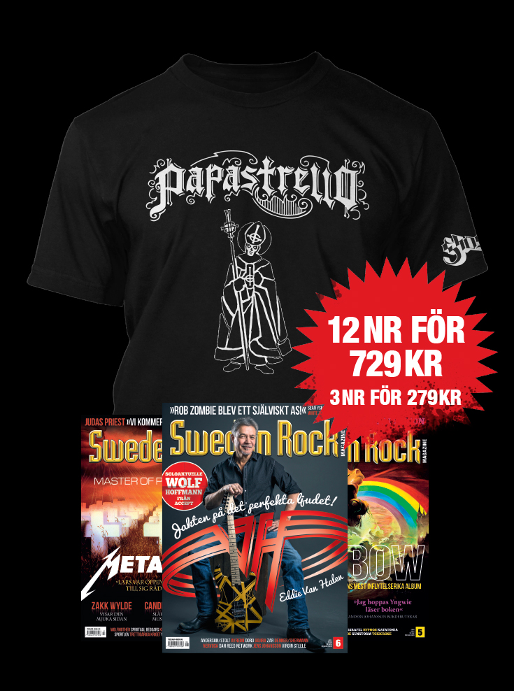 New Papastrello Shirt Available To Sweden Rock Magazine Subscribers