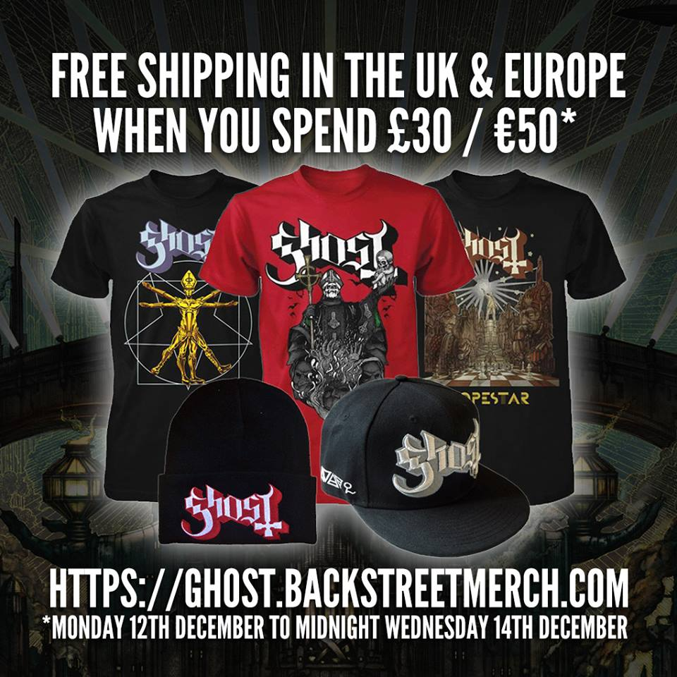 Free European Shipping From Backstreetmerch.com