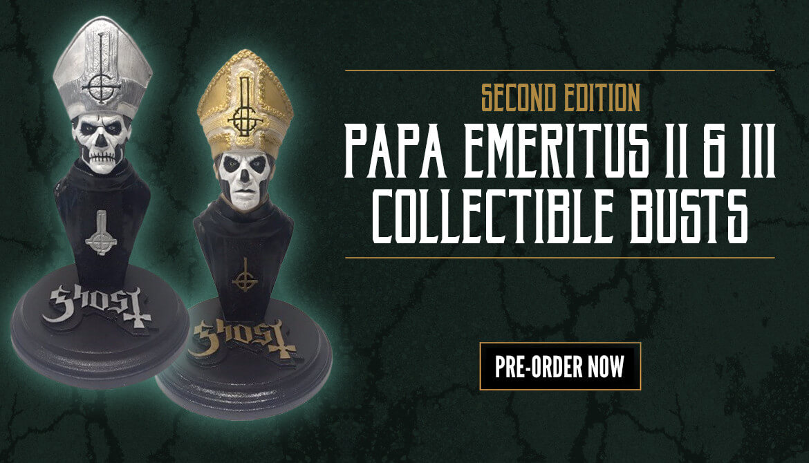 2nd Edition of Papa Emeritus Busts Now Available To Pre-Order