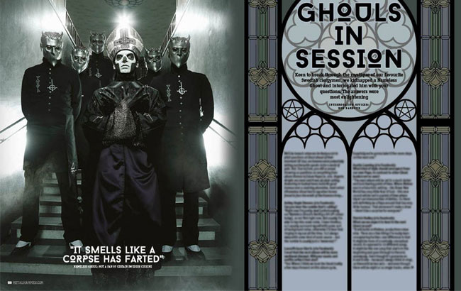 Ghost Featured In Metal Hammer's Latest Issue