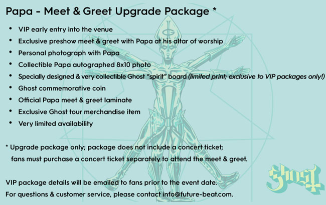 Ghost VIP Packages Now Available For North American Tour Dates