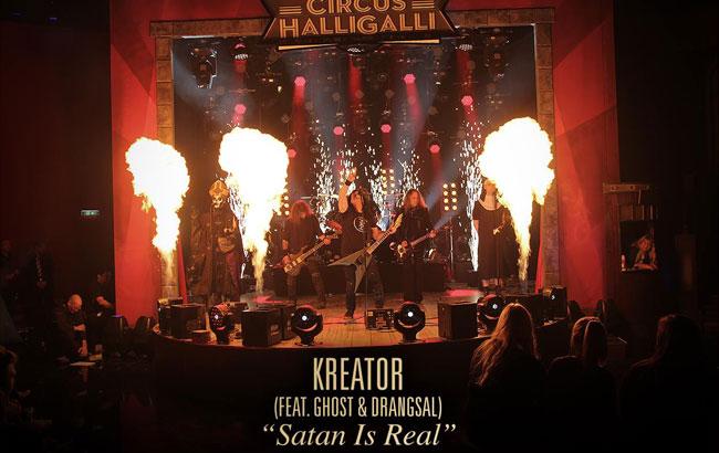 "Kreator Performs ""Satan Is Real"" Featuring Papa Emeritus III And Drangsal"