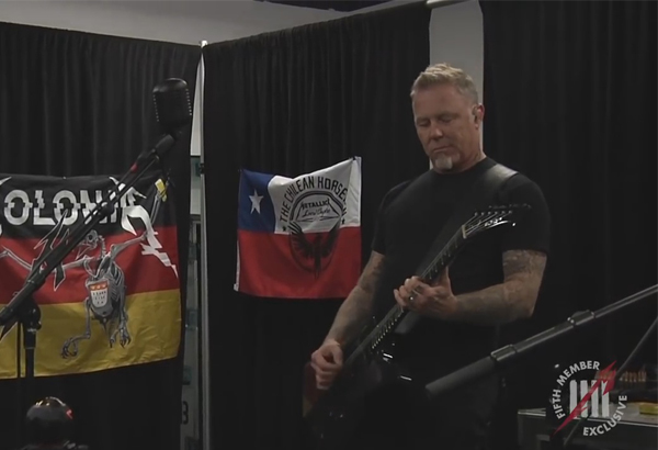 Video Of James Hetfield Of Metallica Playing 'Cirice'