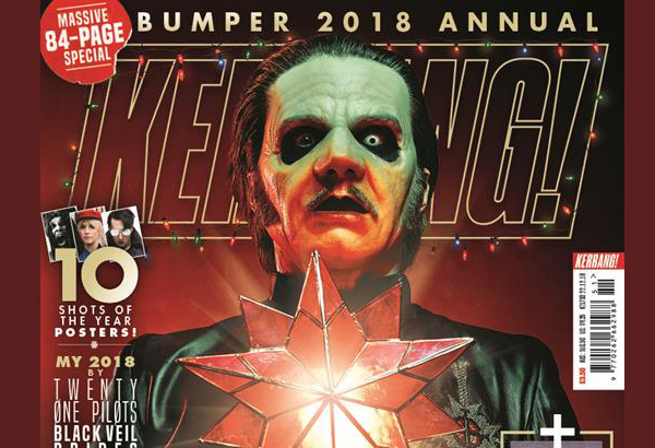 Ghost Featured On The Latest Issue of Kerrang Magazine