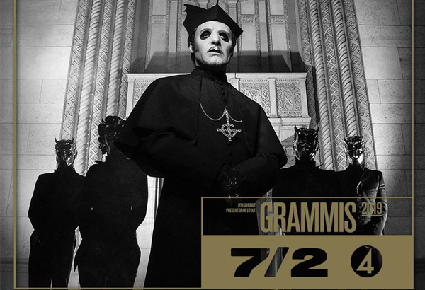 Ghost Nominated For A Grammis In 'Best Hard Rock/Metal of the Year' Category