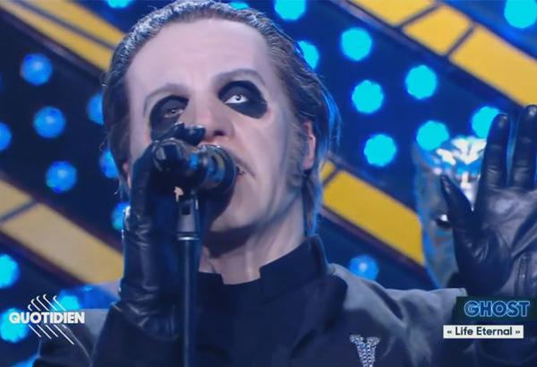 Ghost Performs 'Dance Macabre' And 'Life Eternal' On French TV Show 'Quotidien'