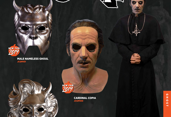 Cardinal Copia Mask Now Available For Pre-Order Via Trick or Treats Studios. Other Masks Out Soon.